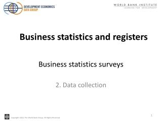 Business statistics surveys