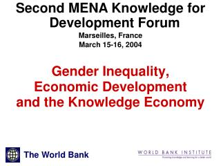 Gender Inequality,  Economic Development and the Knowledge Economy