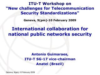 International collaboration for national public networks security