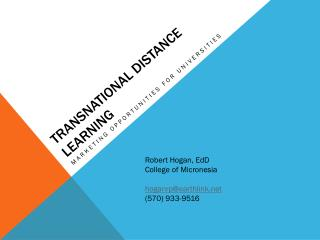 Transnational distance learning