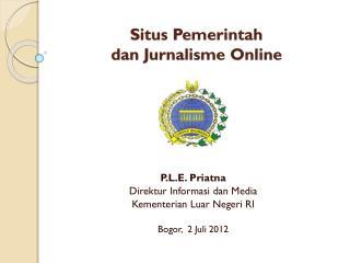 Situs Pemerintah  dan Jurnalisme Online