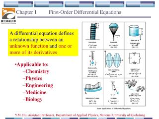Chapter 1         First-Order  Differential Equations