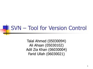 SVN – Tool for Version Control