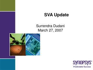 SVA Update