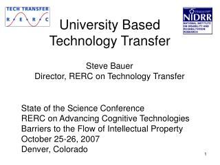 University Based Technology Transfer