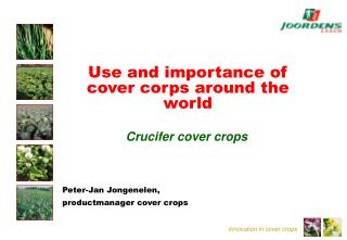 Use and importance of cover corps around the world