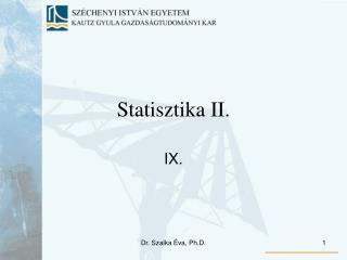Statisztika II.