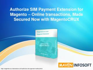 Authorize SIM Payment Extension � Online Finance, Made Secur