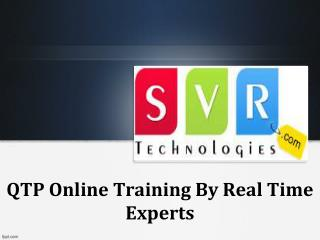 QTP Online Training By Real Time Experts