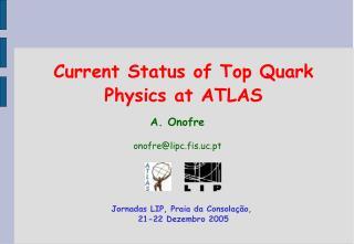 Current Status of Top Quark Physics at ATLAS