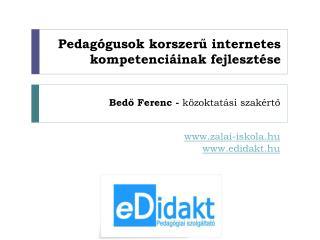 Pedagógusok korszerű internetes kompetenciáinak fejlesztése