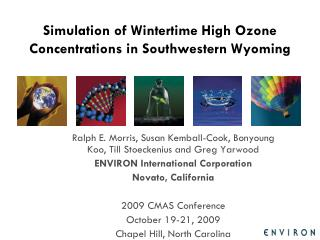 Simulation of Wintertime High Ozone Concentrations in Southwestern Wyoming