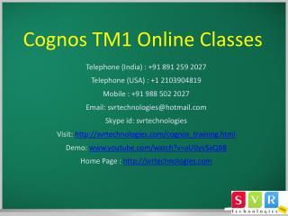 Cognos TM1 Online Classe