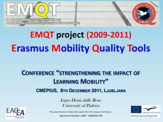 EMQT  project  (2009-2011)
