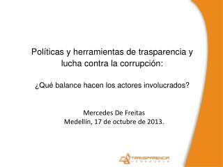 Políticas y herramientas de trasparencia y lucha contra la corrupción: