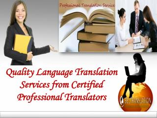 Translation Services from Certified Professional Translators