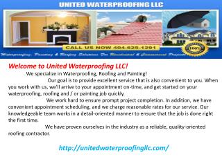 Waterproofing, Exterior & Interior Painting and Roofing Cont