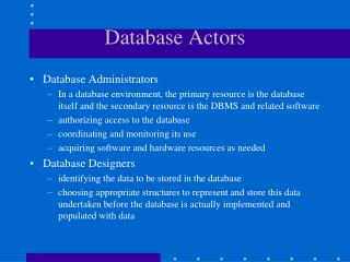 Database Actors