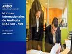 Normas Internacionales de Auditor a NIAs 500 - 599