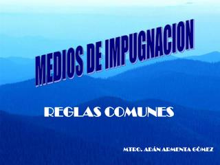 MEDIOS DE IMPUGNACION