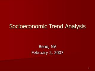 Socioeconomic Trend Analysis