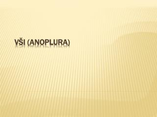 Vši ( Anoplura )