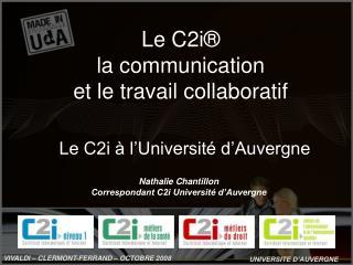 Le C2i   l Universit  d Auvergne