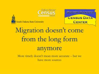 Migration doesn't come from the long form anymore