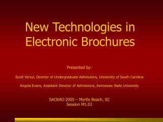 New Technologies in Electronic Brochures