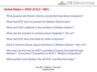 United States v. AT&T (D.D.C. 1981)