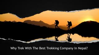 Why Trek With The Best Trekking Company In Nepal?