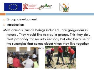 Group development Introduction