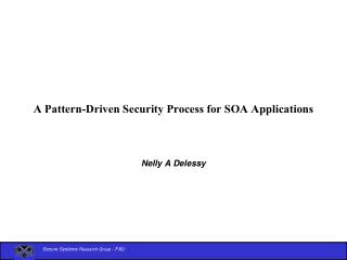 A Pattern-Driven Security Process for SOA Applications