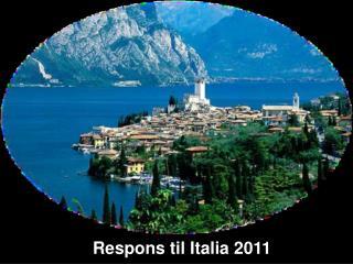 Respons til Italia 2011