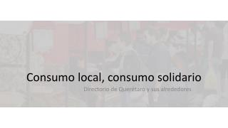 Consumo  local,  consumo solidario
