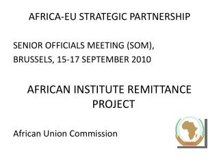 AFRICA-EU STRATEGIC PARTNERSHIP