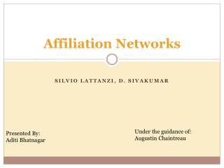 Affiliation Networks