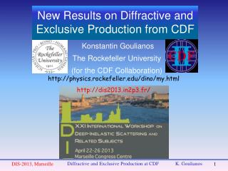 New Results on Diffractive and Exclusive Production from CDF