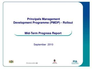 Principals Management Development Programme (PMDP) - Rollout Mid-Term Progress Report