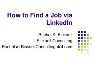 How to Find a Job via LinkedIn