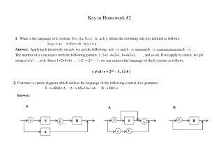 Key to Homework #2