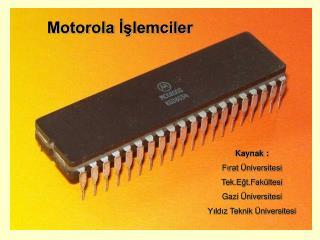 Motorola İşlemciler