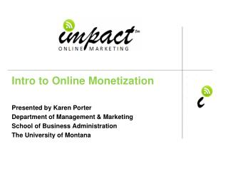 Intro to Online Monetization