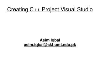 Creating C++ Project Visual Studio