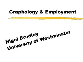 Graphology & Employment