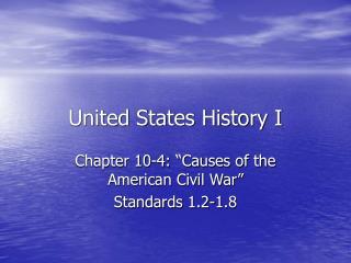 United States History I