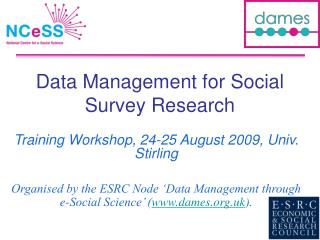 Data Management for Social Survey Research
