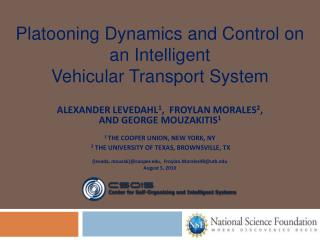 Platooning Dynamics and Control on an Intelligent Vehicular Transport System