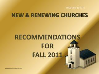 NEW & RENEWING CHURCHES