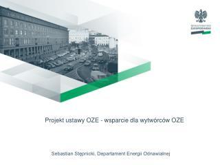 Sebastian Stępnicki, Departament Energii Odnawialnej